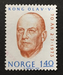 Norway 1973  #620, King Olav, Used.