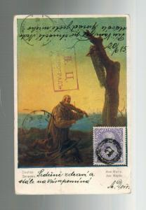 1915 Pizek Austria POW Prisoner of War Camp Postcard Cover to Russia WW 1 KUK