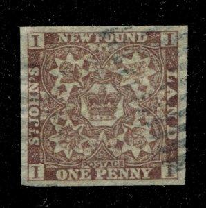 Newfoundland #15A SG U VF 1 Pence Royal Crown [N4064] CV=$200.00