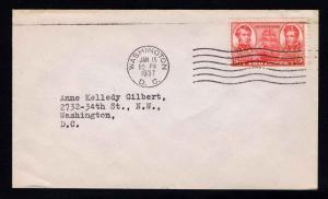 US #791 .02 c. ARMY NAVY ISSUES 1ST DAY COVER - 1937 - VF (ESP#617)