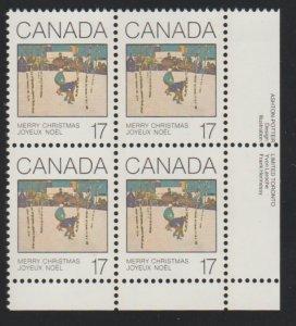 Canada 871 Christmas 1980  MNH - block