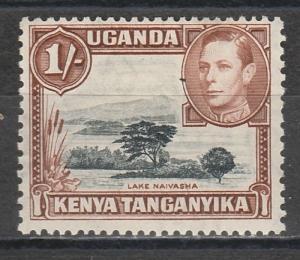 KENYA UGANDA & TANGANYIKA 1938 KGVI LAKE NAIVASHA 1/- PERF 13 X 11.75