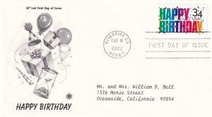 2002, Happy Birthday, PCS, FDC (E12117)