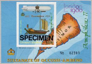 Timor (Ocussi-Ambeno) 1978  Ships-Zeppelin ovpt.Coronation SS Specimen Perf.