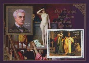 Erotic Art Paintings Jean-Leon Gerome Souvenir Sheet of 2 Stamps Mint NH