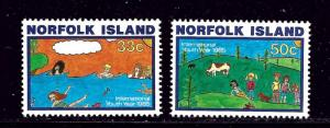 Norfolk Is 369-70 MNH 1985 Intl Youth Year