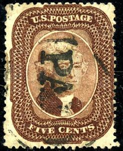 U.S. #29 Used PAID Cancel