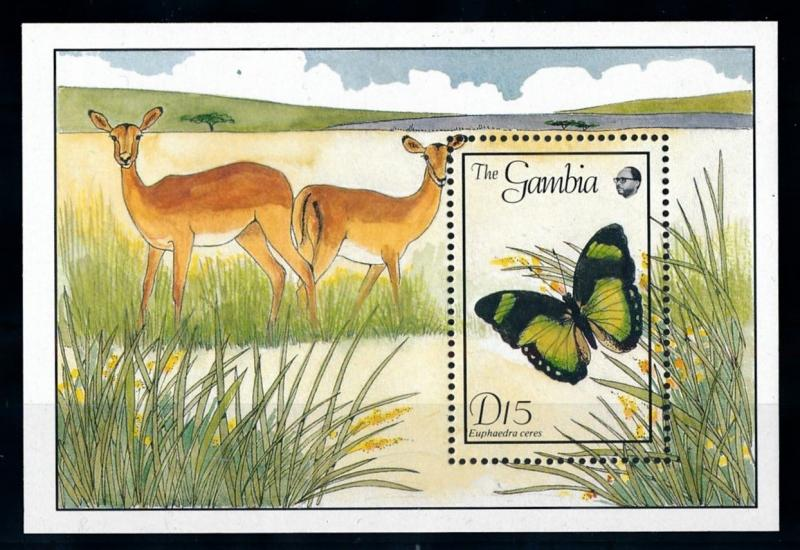 [70697] Gambia 1989 Insects Butterflies Souvenir Sheet MNH