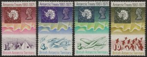 BRITISH ANTARCTIC TERRITORY-1971 Treaty Set of 4 Sg 38-41 MOUNTED MINT V43513
