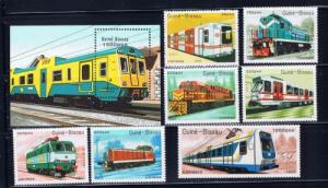 Guinea-Bissau 795-802 NH 1989 Trains