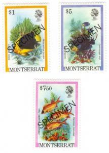 Montserrat #455//9 MNH SPECIMEN fish