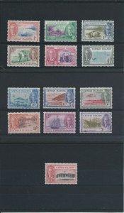 CAYMAN IS 1950 SET OF THIRTEEN MNH SG 135/147 CAT £85