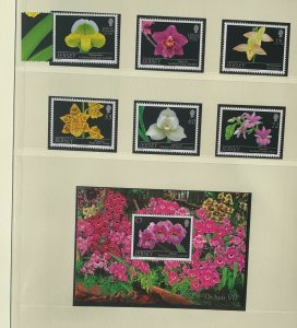 JE94) Jersey 2011 Orchids Part VII set of 6 & M/S MUH