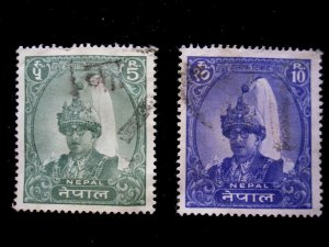 NEPAL - SCOTT# 151,151A - USED - CAT VAL $13.00