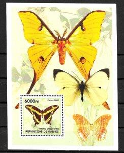 Guinea MNH S/S Yellow Butterflies 2002