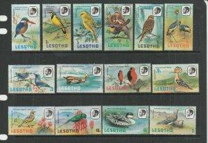 Lesotho 1981 Birds P14 set UM/MNH SG 437/50
