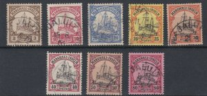 MARSHALL  ISLANDS  1901  S G 13 - 21  3P TO 80P  USED  CAT £120