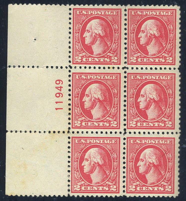 528 MINT Plate Block F-VF OG NH A few gum skips Cat$175