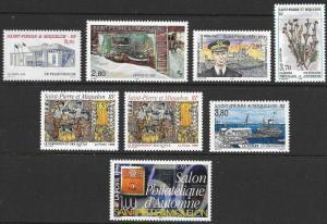 St. Pierre et Miquelon (SPM) 1995-1996 8 Different Scott 620//632 M NH Cat US$11