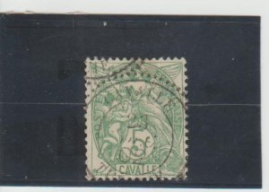 French Offices in Turkey (Cavalle)  Scott#  9  Used  (1902 Liberty, Equality,Fra