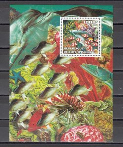 Ivory Coast. 2002 Cinderella issue. Fishes s/sheet. ^