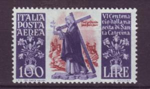 J21625 Jlstamps 1948 italy mh #c127 st catherine