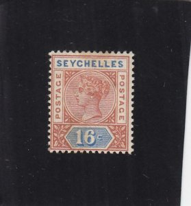 Seychelles Island: Sc #12, MH, Heavy Hinged (36171)