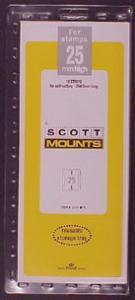 Scott Mounts Clear,25 STRIP 265  (pkg 12) (01035C)