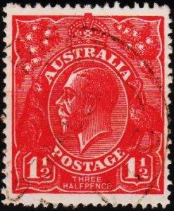 Australia. 1913 1 1/2d S.G.77 Fine Used