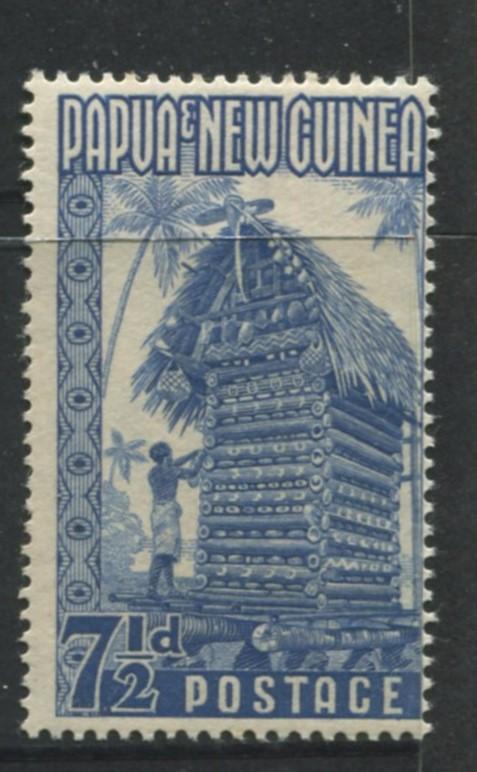 Papua New Guinea.- Scott 129 - Definitive Issue -1952 - MNH -Single 7.1/2p Stamp