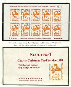 GB Middx Wembley BEE Scout Mail Stamps Original Album Page 1984 {samwells} AG318