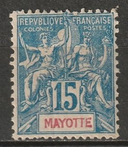 Mayotte 1892 Sc 7 MH* some disturbed gum
