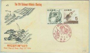 95591 - JAPAN - POSTAL HISTORY -  FDC COVER  : PING PONG 1954