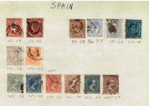 SPAIN STAMP USED STAMPS ON PAGE COLLECTION LOT