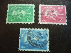 Stamps - Cuba - Scott# 415-417 - Used Set of 3 Stamps