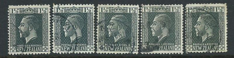 New Zealand SG 437 5 copies assume lowest value for study