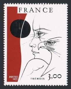 France 1520,MNH.Michel 2044. Paintings 1977.Head & Eagle,by Pierre-Yves Trmois.