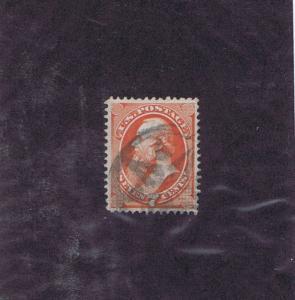 SCOTT# 138 VAR USED, QUAD SPLIT ~ I ~ GRILL, NY FOREIGN MAIL CCL, 1871, PF CERT