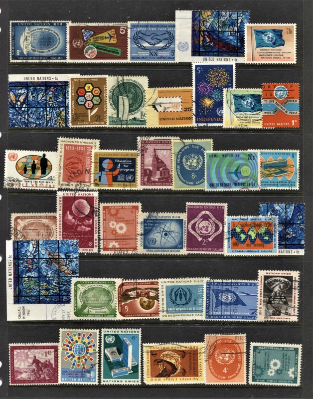 STAMP STATION PERTH United Nations #38 Used Selection - Unchecked