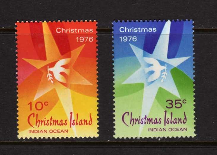 Christmas Island #66-67 Mint NH Unused 1976