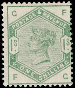SG196, 1s dull green, M MINT. Cat £1600. FG