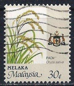 Malaysia-Malacca ~ Scott # 98 ~ Used