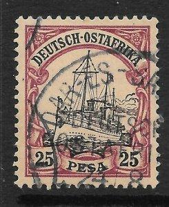 GERMAN EAST AFRICA SG21 1901 25p BLACK & PURPLE ON BUFF USED