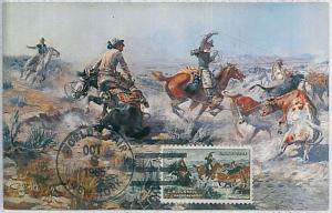 32236  MAXIMUM CARD - POSTAL HISTORY - USA: Horses, Cowboys, Cows, Fauna, 1965