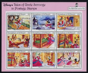 St Vincent Grenadines 965 MNH perforation error - Princess & the Pea, Horse