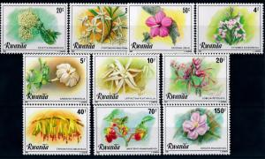 [64909] Rwanda 1981 Flora Flowers Blumen 10 Values MNH