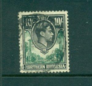 Northern Rhodesia - Sc# 44. 1938 Geo VI 10Sh Used. $32.50.