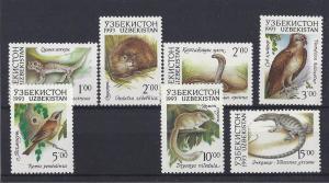 Uzbekistan MNH 7-13 Fauna Wildlife 1993