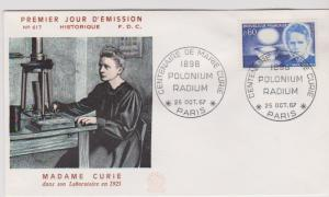 FRANCE STAMPS FDC -YEARS 1967 -MARIE CURIE # LOT#A-08