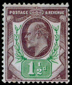 SG221 SPEC M8(1), 1½d dull purple & green, LH MINT. Cat £45.